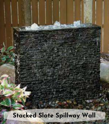 Stacked Slate Spillway Wall
