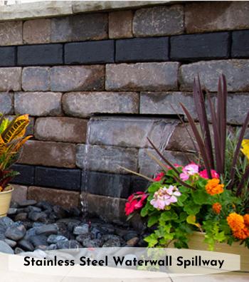 Stainless Steel waterwall spillway
